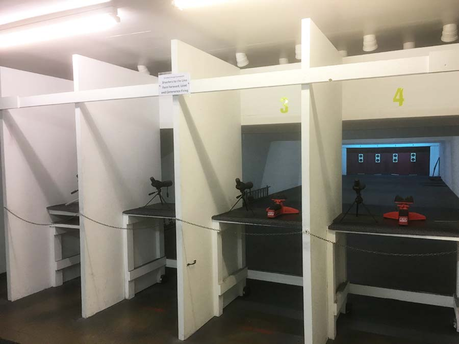 Indoor shooting range at NE Lincs Target Club