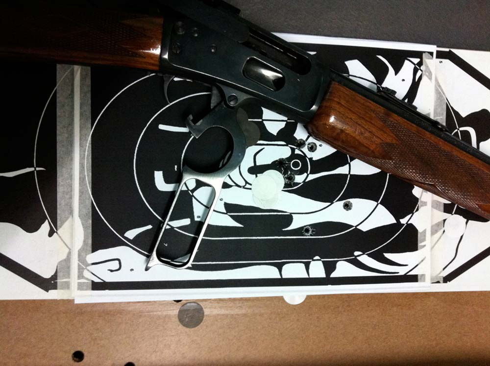 Gun and target at NE Lincs Target Club
